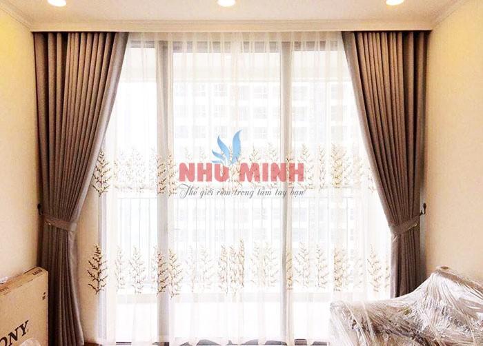 Công trình rèm vải tại Hòa Xuân - Công ty nội thất Như Minh