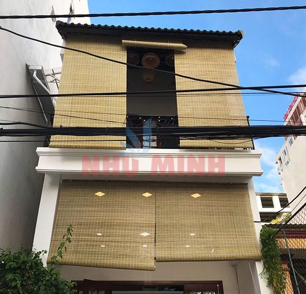 Rèm tre trúc Đà Nẵng - Rèm tre trúc che mái hiên tại Đà Nẵng