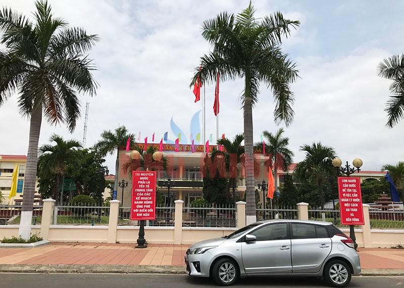 Công trình rèm vải tại hội trường quận Liên Chiểu Đà Nẵng