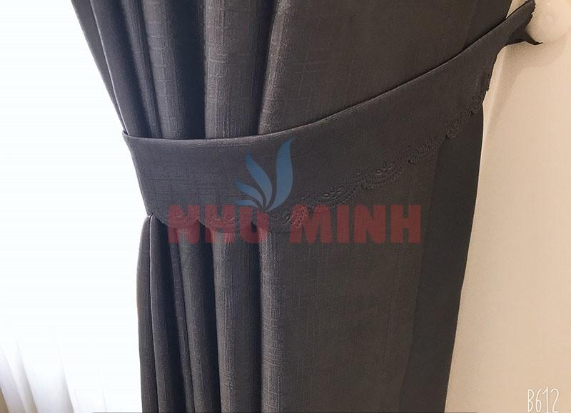 Rèm vải tự động 2 lớp tai Đà Nẵng - Dùng động cơ AT, vải cản sáng 100%.