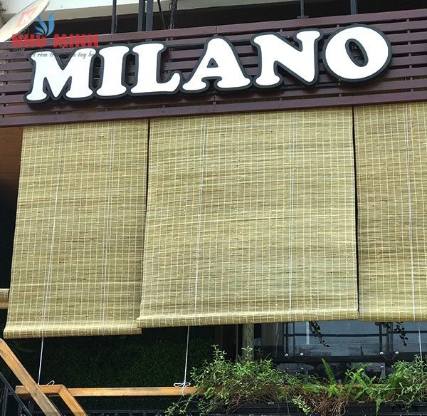 Rèm trúc tự nhiên tại Đà Nẵng - Lắp rèm trúc tại Milano Coffee