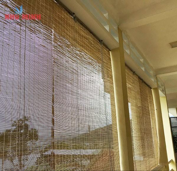 Thi công rèm trúc tại trụ sở Công ty xăng dầu quân đội khu vực 2 - Chân đèo Hải Vân